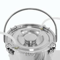 5l Portable Electric Milking Machine Inox Steel Milk Drum Cow Milk