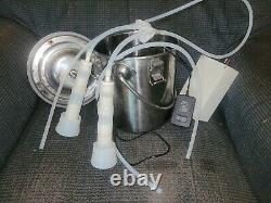 5l Portable Machine De Traite Électrique En Acier Inoxydable Lait Tambour Vache Milker Farm