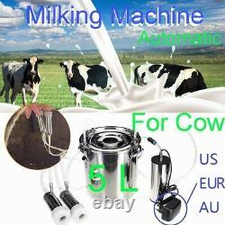 5l Us/eur/au Adaptateur Automatique Stop Machine À Traire Électrique Vache Pompe À Vide