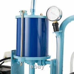 6.6gal Stainless Steel Electric Milking Milker Machine Goats Cows+ 2 Plugs Dsu