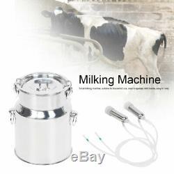 7l Électrique Machine À Vide Impulse Traire Pompe Vache En Acier Inoxydable Milker Accueil