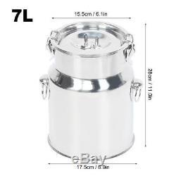 7l Électrique Machine À Vide Pulsation Traire Pompe Milker Barrel Inoxydable Vache