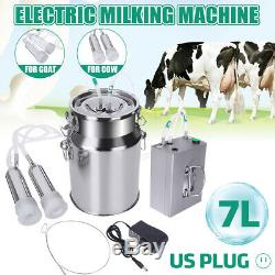 7l Électrique Machine À Vide Traire Impulse Pompe En Acier Inoxydable Vache Chèvre K