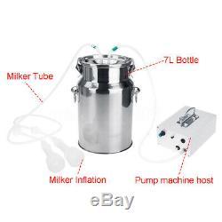 7l Électrique Pompe À Traire Machine À Vide Forte Aspiration Milker Réservoir Pour La Vache Ferme