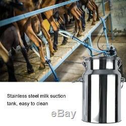 7l En Acier Inoxydable Mini Électrique Vide Traire Machine Vache Mouton Chèvres Us Plug