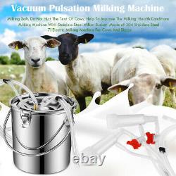 7l Laminoir De Pompe À Vide Portable De La Machine De Traite Électrique Pour La Chèvre De Mouton De Vache Agricole