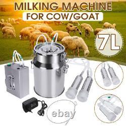 7l Machine De Traite Électrique Pompe À Vide Vache Chèvre Utomatically Milker
