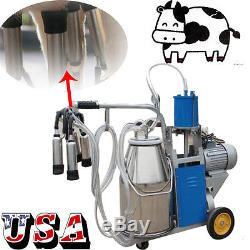 Acier Inoxydable 1440rmp / Min Américain De Seau De Vache De Ferme De Lait De Machine À Traire Électrique