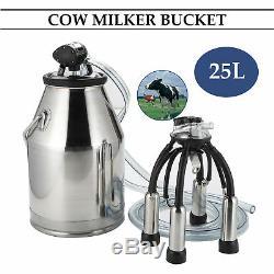 Acier Inoxydable 25l De Baril De Réservoir De Seau De Machine À Traire De Vache Laitière Portative