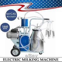 Acier Inoxydable De Seau De Vache De Ferme De Lait De Machine À Traire Électrique Des USA 25l Fda 64 / Min