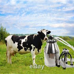Baril De Réservoir De Seau De Machine À Traire De Vache À Vache D'acier Inoxydable Portatif 304 #