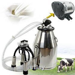 Baril De Traite De Réservoir De Seau De Milker 25l Avec Pulsateur Pneumatique L80 Pour Les Vaches De Ferme