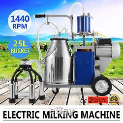 Baril Portatif De Réservoir De Traite De Vache D'acier Inoxydable De Milker 304 De Vache 25l
