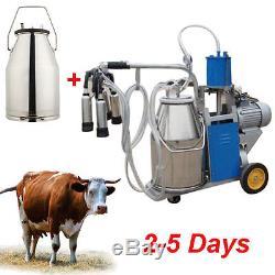 Canada 2-5 Jours Machine À Traire De Vache De Livraison + Pompe À Vide Milker + Réservoir De Seau De 25l