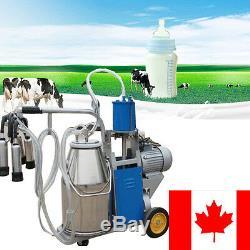 Canada Électrique Traire Machine À Vide Pompe À Piston Milker Ferme Vache Appareil Automatique