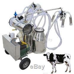 Ce Électrique De Ferme De Vaches De Pompe À Vide De Machine À Traire Portative Double De Vache Grande