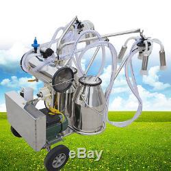 Ce! Machine À Traire Électrique De Pompe À Vide Pour Le Double Mouvement Facile De Réservoir De Vaches De Ferme