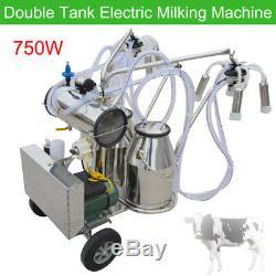 Double Machine À Traire Électrique De Pompe À Vide De Milker Tank Pour La Laiterie Bovine Us De Vaches