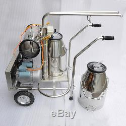 Efl Ferme Vache Laitière Bétail Tray Milker Machine Kit Deux Seau Réservoir Baril 110 V