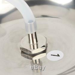 Électrique Machine Vache De Chèvre Traire Milker Acier Inoxydable Réservoir Têtes Doubles 5l