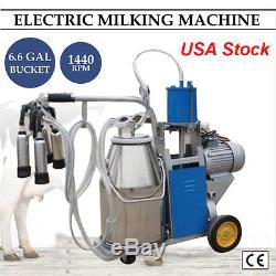 Équipement Idéal De Machine À Traire Électrique 25l Pour Les Vaches De Ferme Avec La Pompe À Vide De Seau