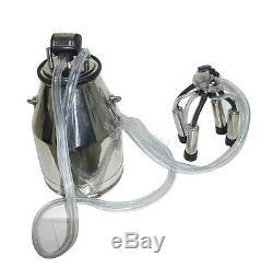 Etats-unis 25l Portable Vache Milker 304 En Acier Inoxydable Traite Seau Réservoir Baril Fda