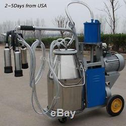 États-unis Électrique Machine Ferme Traire Trayeur Vaches Seau 25l Seau En Acier Inoxydable
