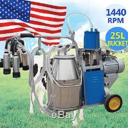 États-unis Locallarge Machine À Ordonner Électrique Milker For Farm Cow Milk Bucket 25l