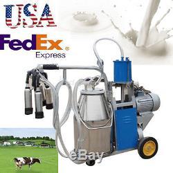 Etats-unis Vache Électrique Fda De Vache De Ferme De Seau 25l De Machine À Traire Électrique De Pompe À Vide Électrique Portative