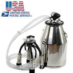 États-unis Vache Milker Seau Réservoir Traire Barrel + Free Pneumatique Pulsator De Vache Laitière