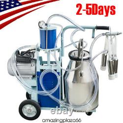 Fda Portable Electric Milking Machine Milker Cows Stainless With 25l Bucket Fda/ce