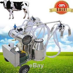 Ferme À Lait De Vache De Machine À Traire De Pompe À Vide Électrique De Milker De Double Réservoir Portatif