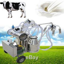 Ferme Électrique Fedex De Vaches De Machine À Traire De Pompe À Vide Électrique De Double Réservoir Milker