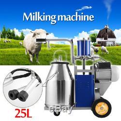 La Machine À Traire De Vaches De Chèvres Électriques De 25l Avec Le Seau Milker Ydh-i De Seau