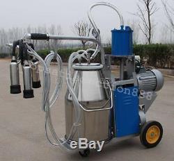 La Machine À Traire Électrique De Piston De Milker Adaptent Le Seau 25 \ 304 Inoxydable De Vaches De Ferme