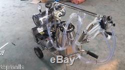 La Machine À Traire Portative De Pompe À Vide Vide L'usine Simple De Réservoir Directement