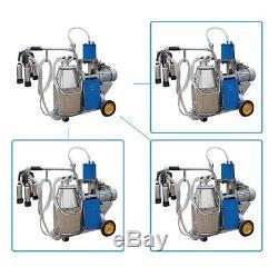 Machine À Ordonner Électrique Aux États-unis Milker Vacuum For Farm Cows 25l Bucket Stainless