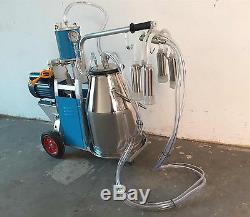 Machine À Traire À Piston Électrique Avec Seau De 25l Pour Les Vaches 110v De Ferme Domestique
