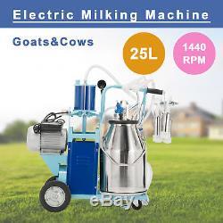 Machine À Traire À Traire Électrique 25l Pour Les Chèvres Trayant 10-12 Vaches Par Heure