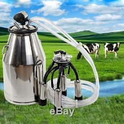 Machine À Traire De L'acier Inoxydable 25l Pour Des Vaches Ou Des Moutons Toutes Sortes De Kit De Pompe À Vide
