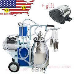 Machine À Traire De Traite Laitière Électrique USA 25l Pour Vaches + Pulsateur Supplémentaire