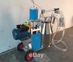 Machine À Traire De Type À Piston Électrique Avec Un Seau De 25l Pour Les Vaches À La Ferme 110v Us