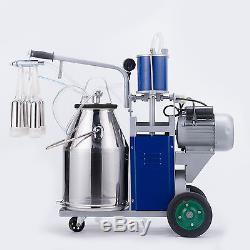 Machine À Traire De Vache Laitière Électrique Milker 304 En Acier Inoxydable Nouveau