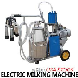 Machine À Traire Électrique 25l Milker De Seau Pour Des Chèvres De Ferme Laitière Vaches Bovins Ups