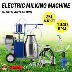 Machine À Traire Électrique 25l Pour Les Vaches De Chèvre Avec Prise 12cows / Hour 550w 2 De Seau