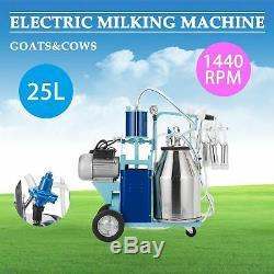 Machine À Traire Électrique 25l Pour Les Vaches De Chèvres Withbucket 2 Branche 12cows / Heure En Boyau