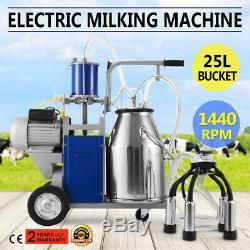 Machine À Traire Électrique 25l Pour Les Vaches De Ferme 550w 12 Vaches / Heure 304 En Acier Inoxydable