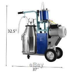 Machine À Traire Électrique 25l Pour Vaches De Chèvres Avec Pompe À Vide 550w Automatique