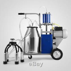 Machine À Traire Électrique 25l Pour Vaches De Ferme 550w 12 Vaches / Heure 304 En Acier Inoxydable