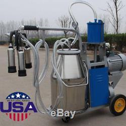 Machine À Traire Électrique D'usacow Milker Pour Des Roues Portatives De Ferme De Vaches